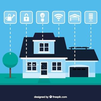 Smart Home Hintergrund mit Gerät