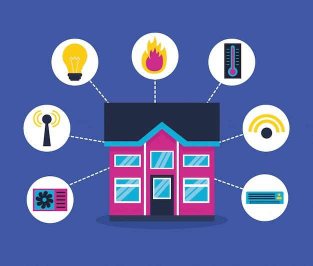 Smart home im flachen stil