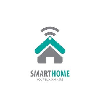 Smart home-logo für geschäftsunternehmen. einfaches design der smart-home-logo-idee. corporate-identity-konzept. kreatives smart home-symbol aus der zubehörkollektion.