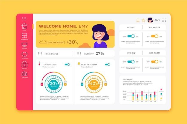 Smart home management app