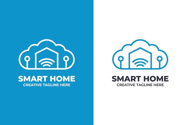 Smart home-technologie-geschäftslogo