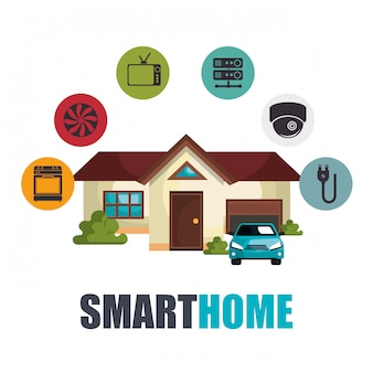 Smart-home-technologie-set-symbol