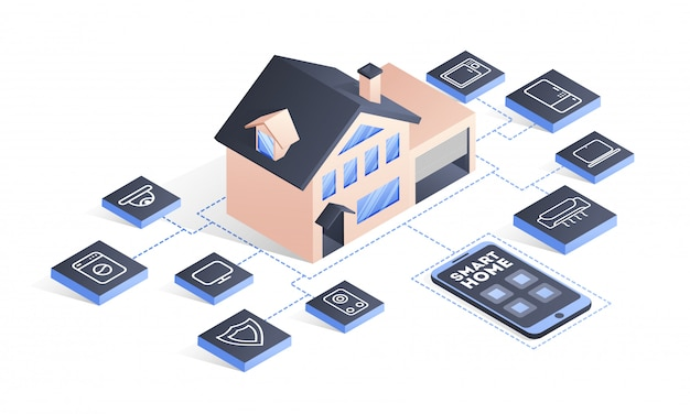 Smart home-technologie.