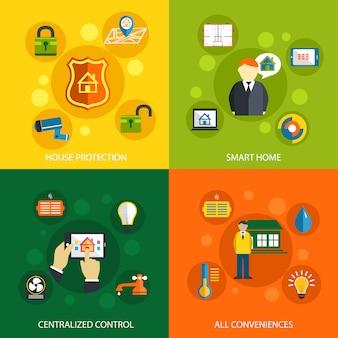 Smart-home-technologiekonzept