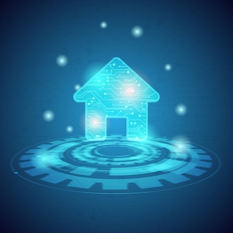 Smart home und intelligentes technologiekonzept