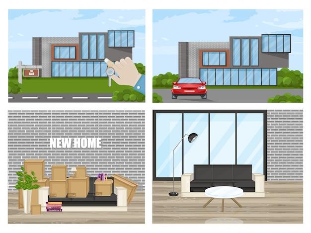 Smart house flachen stil