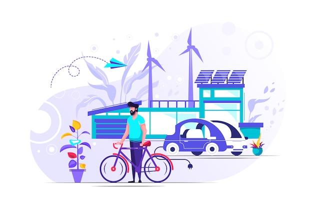 Smart house illustration