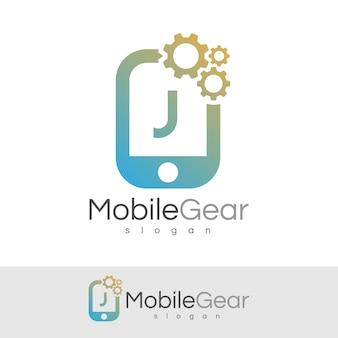 Smart mobile anfangsbuchstabe j logo design