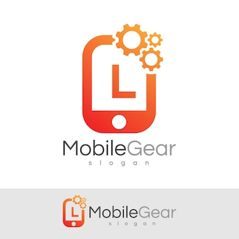 Smart mobile anfangsbuchstabe l logo design