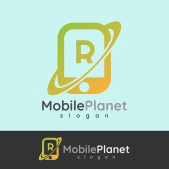 Smart mobile anfangsbuchstabe r logo design