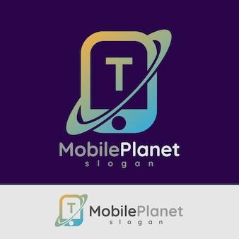 Smart mobile anfangsbuchstabe t logo design