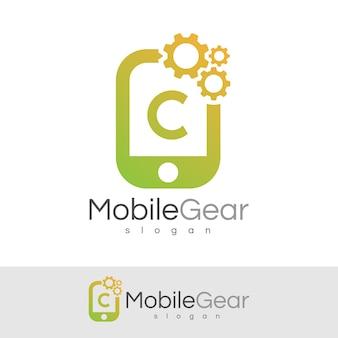 Smart mobile anfangsbuchstaben c logo design