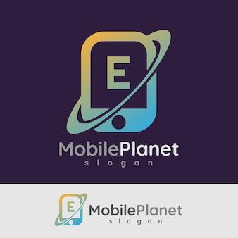 Smart mobile anfangsbuchstaben e logo design