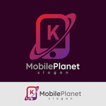 Smart mobile anfangsbuchstaben k logo design