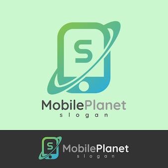Smart mobile anfangsbuchstaben s logo design