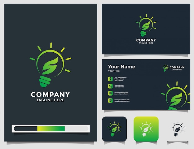 Smart nature logo und visitenkarte