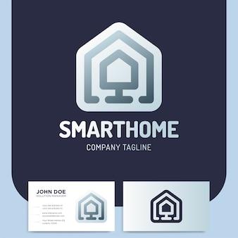 Smart oder technologie home logo