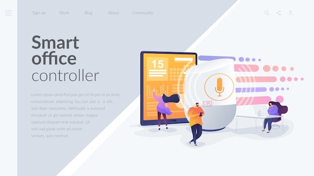Smart office controller landing page