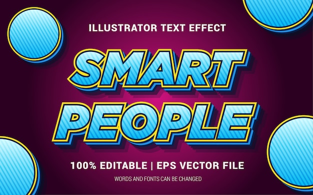 Smart people text effects style