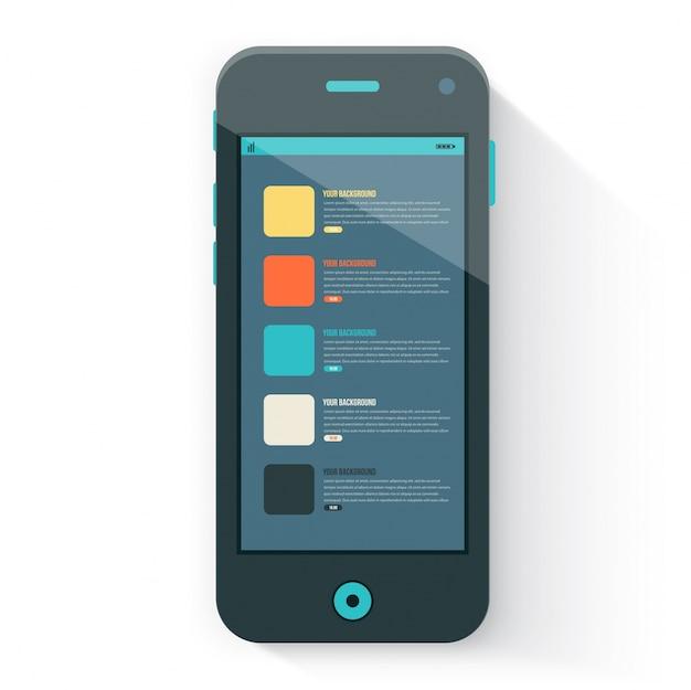 Smart phone mit isolierten. realistisch weiß