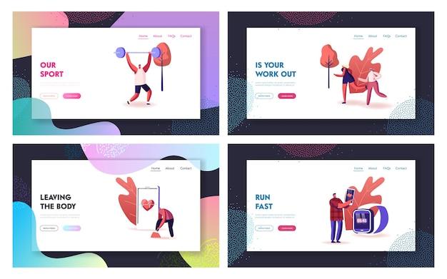 Smart shoes landing page template set