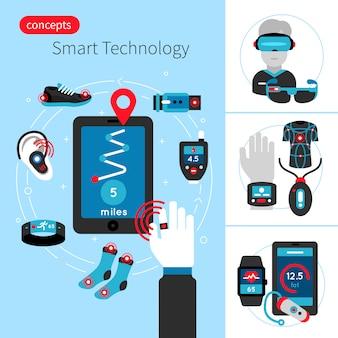 Smart technology concept composition