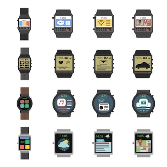 Smart watch-symbol flach