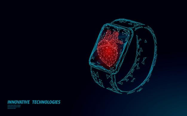 Smart watches fitness-tracker gesundheitsgerät. geschäftskonzept der medizin-app. modernes design des menschlichen herzschlag-sportmonitors.