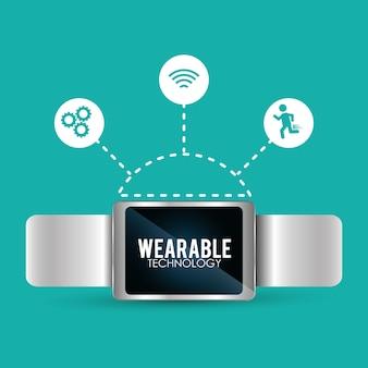 Smart wearable technologie trendige verbindung