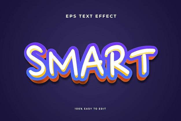 Smart weiß gelb blau orange texteffekt