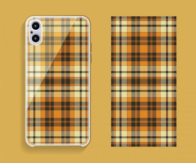 Smartphone-abdeckung. geometrisches muster der vorlage für den hinteren teil des mobiltelefons. .