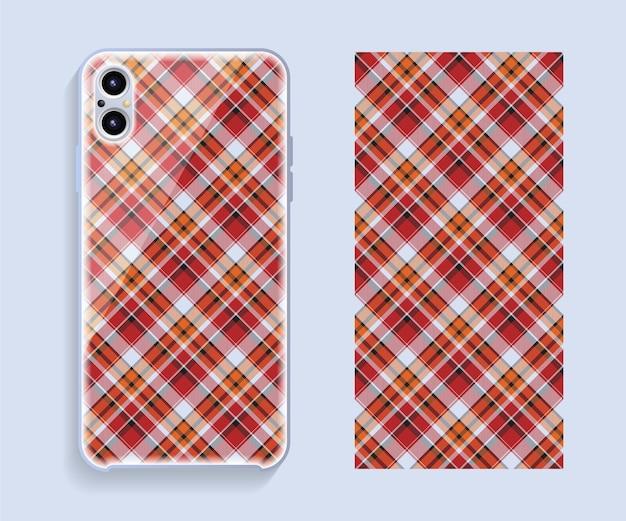 Smartphone-abdeckung. geometrisches muster der vorlage für den hinteren teil des mobiltelefons.