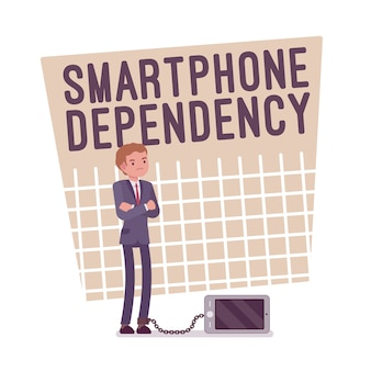 Smartphone-abhängigkeitsplakat