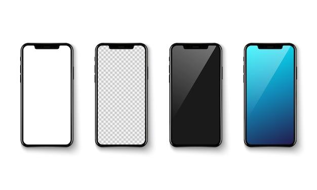 Smartphone-anwendungsbildschirm auf weißem grund