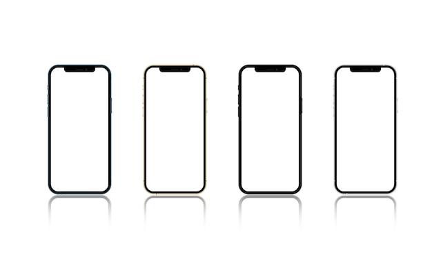 Smartphone-anwendungsbildschirm isoliert auf weißem grund