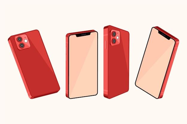 Smartphone aus verschiedenen perspektiven