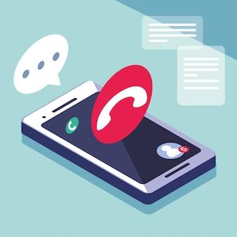 Smartphone-bildschirm mit mobilen anwendungen