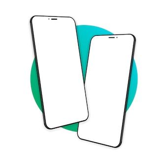 Smartphone-bildschirm, telefon. gerätemodell. moderne vorlage für infografiken oder präsentations-ui-design-oberfläche. illustration