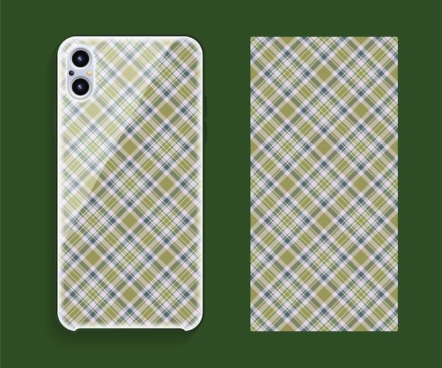 Smartphone-cover-design. geometrisches muster der vorlage für den hinteren teil des mobiltelefons. flaches design.