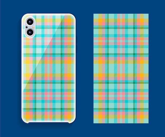 Smartphone-cover-design. schablonengeometrisches muster für handy-rückenteil.
