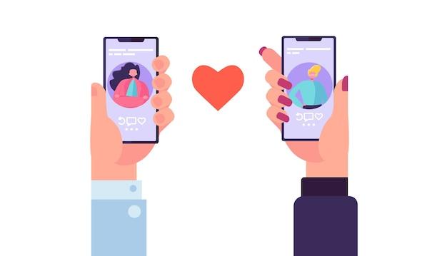 Smartphone-dating-anwendung, um liebe zu finden