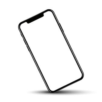 Smartphone drehte position mit leerem bildschirm