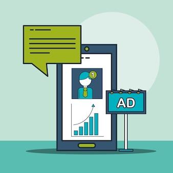 Smartphone e-mail-benachrichtigung werbung digitales marketing