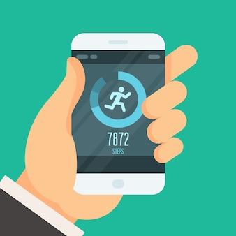 Smartphone fitness tracker app - gewicht verlieren
