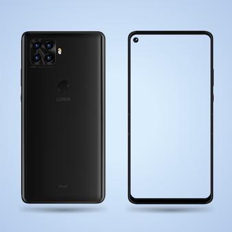 Smartphone fünf kamera vorne hinten illustration für technologie-werbung