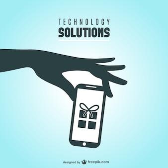 Smartphone-geschenk-konzept-vorlage