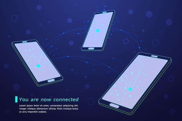Smartphone hallo-tech-touchscreen verbunden