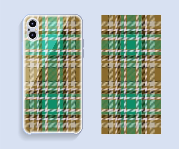 Smartphone-hülle design. geometrisches muster für handy-rückenteil. flaches design.