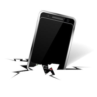 Smartphone in riss