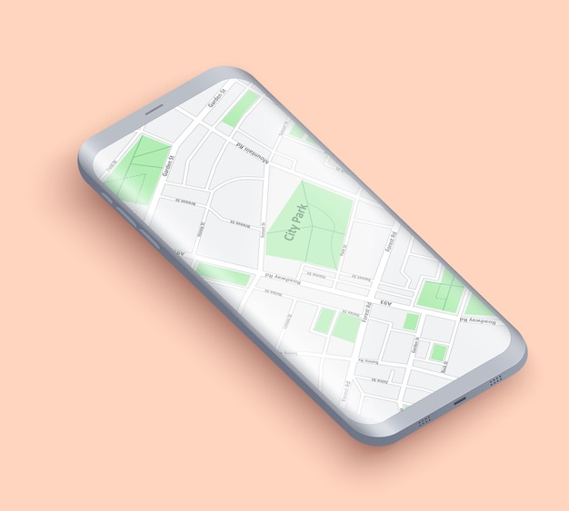 Smartphone-layout-präsentation